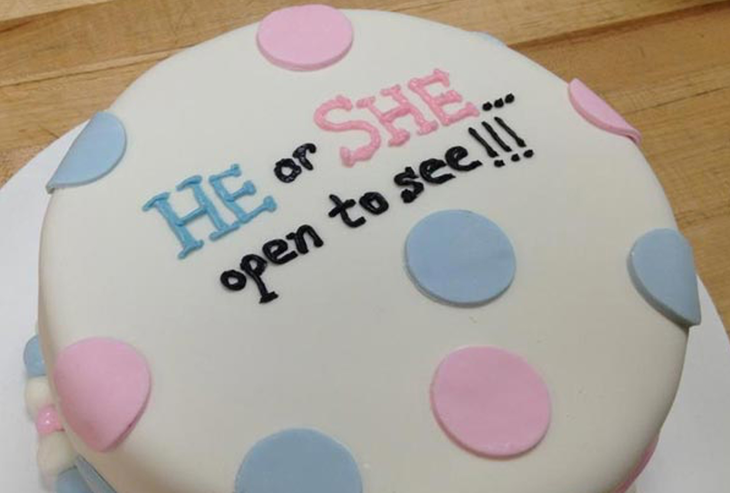 gender reveal ideas surprise cake