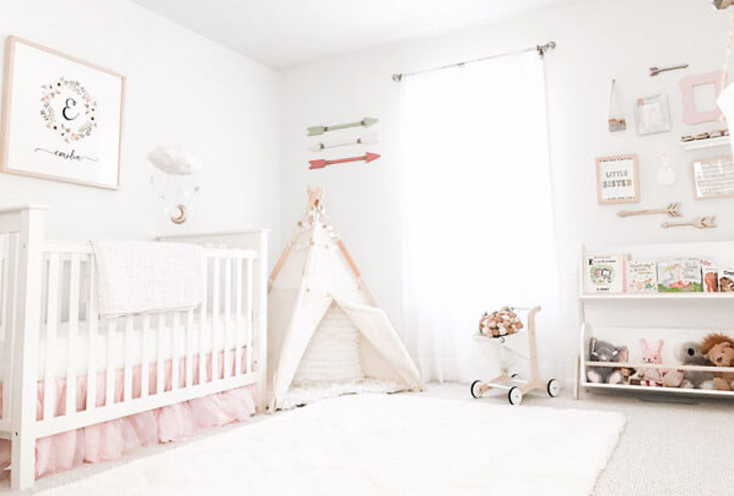 BABY COT CANOPY 8 DIFFERENT COLORS WITH STARS SWEET BABY