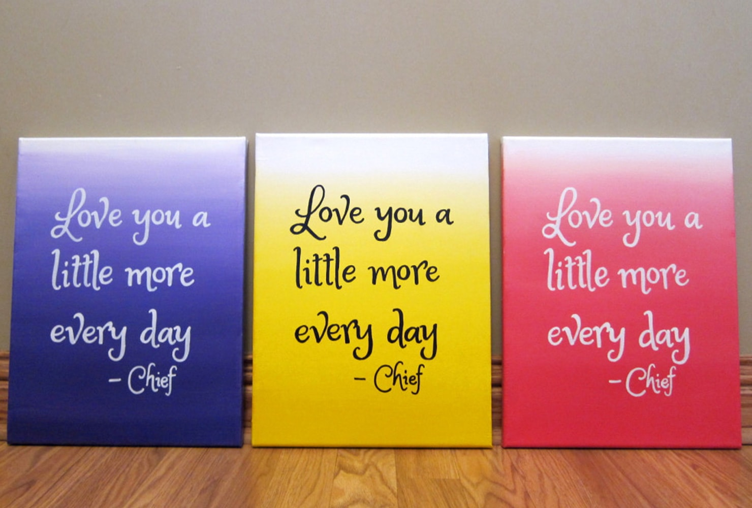 quotes on various canvas colors