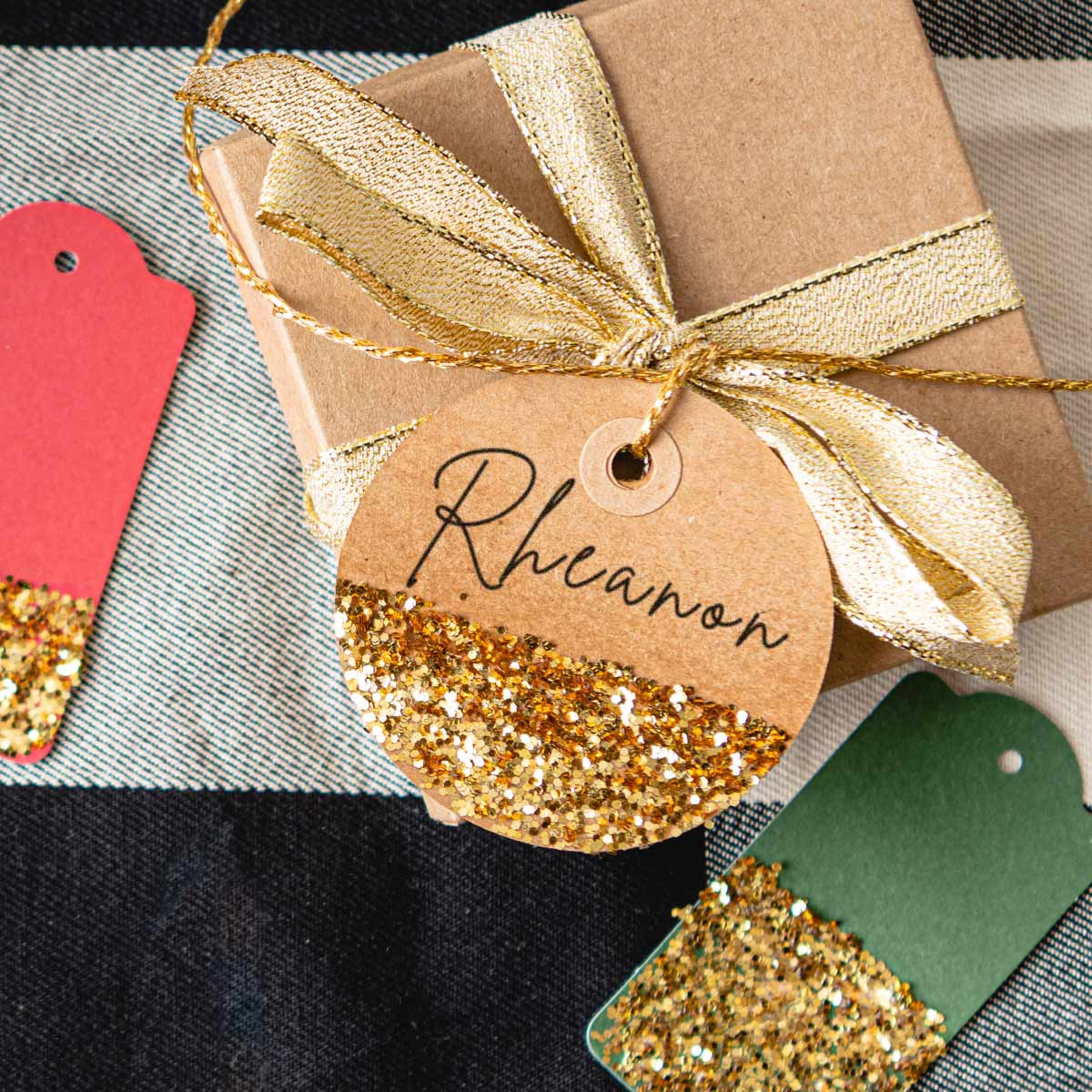 The Easiest DIY Glitter Gift Tags For The Holidays