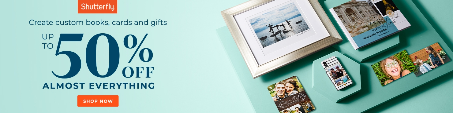 shutterfly promos - save 50%